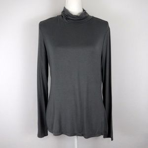 NWT Cato Gray Turtle Neck Shirt Large  Top
